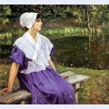 Girl by a pond portrait of natalia nesterova