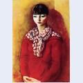 Kiki de montparnasse in a red dress