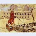 The lion bridge in petrograd