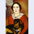 Lady with a dog portrait of esther schwartzmann