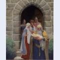 Merlin taking away the infant arthur