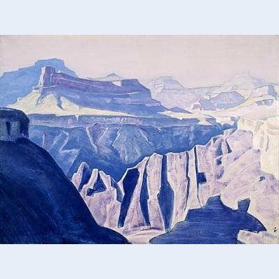 Blue temples grand canyon arizona