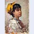 Girl with yellow headscarf