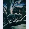 A bear in a moon night