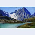 Lake teberdinsky caucasus