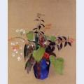 Flowers in a blue jug