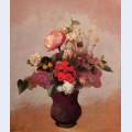 Flowers in aa brown vase