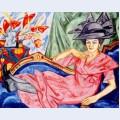 Lady in pink artist s sister anna rozanova