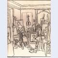 Artist s studio on street la boetie 1920