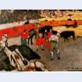 Bullfight scene 1901