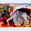 Bullfight the death of the torero