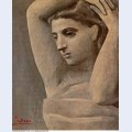 Bust of a woman arms raised 1922