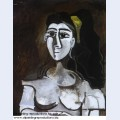 Bust of woman with yellow ribbon jacqueline 1962