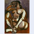 Crouching female nude 1956