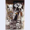 Drawing woman surrounded by her children 1950