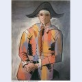 Harlequin with his hands crossed jacinto salvado 1923