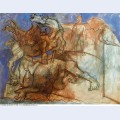 Minotaur is wounded horse and personages 1936