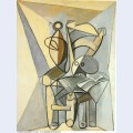 Still life with skull on an armchair 1946