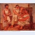 Three women at a fountain 1921 1