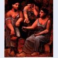 Three women at a fountain 1921