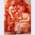 Three women at a fountain 1921 2