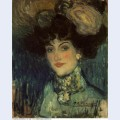 Woman with feather hat 1901
