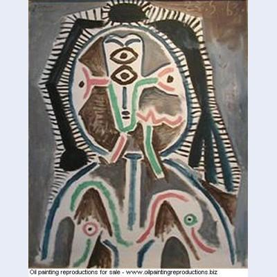 Buste de femme 1963 - Pablo Picasso [French] - Oil painting ...