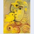 Buste de femme a l oiseau 1971