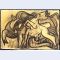 Cheval et taureau 1934