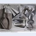 Crane de chevre bouteille et bougie 1945