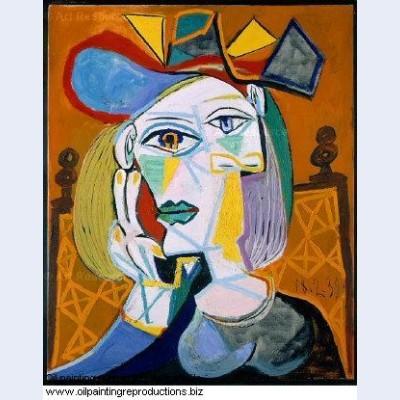 Femme assise au chapeau 1 1939 - Pablo Picasso [French] - Oil ...