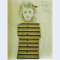 Genevieve a la jacquette rayee 1951