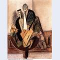 Instruments de musique et compotier sur un gueridon 1915