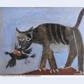 Le chat saisissant un oiseau 1939