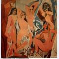 Les demoiselles d avignon3 1907