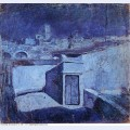 Les toits de barcelone au clair de lune 1903