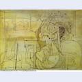 Minotaure au javelot et femme otage 1934