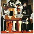 Musiciens aux masques trois musiciens 1921