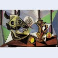 Nature morte au crane de mouton 1939 - Pablo Picasso [French] - Oil ...