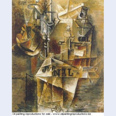 Nature morte au journal 1912 - Pablo Picasso [French] - Oil painting ...