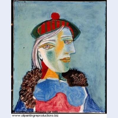 Portrait de femme au beret 3 1937 - Pablo Picasso [French] - Oil ...