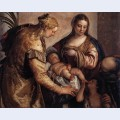 Holy family with st barbara and the infant st john