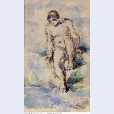 Bather entering the water 1885