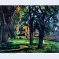 Chestnut tree and farm 1885