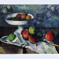 Compotier glass and apples 1880