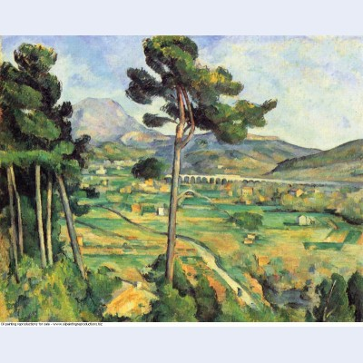 Landscape with viaduct montagne sainte victoire 1887