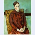 Madame cezanne in a yellow chair 1