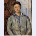 Madame cezanne in blue 1890