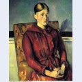 Madame cezanne with a yellow armchair
