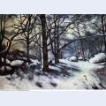 Melting snow fontainbleau 1880